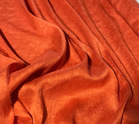 Blood Orange - Hand Dyed Silk Dupioni
