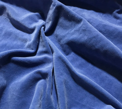 Royal Blue   - Hand Dyed Cotton Velveteen