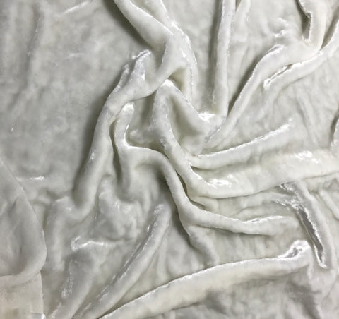 "White - Very Plush Silk Velvet (45"")"