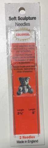 2 Pack Soft Sculpture Doll Needles - Colonial Needles