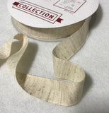 Cotton/Linen Ribbon Tape Trim Made in Japan (7 Widths to choose from)