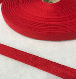 "Cotton Twill Tape 9/16"" / 14mm width - Made in France (9 Colors to choose from)"