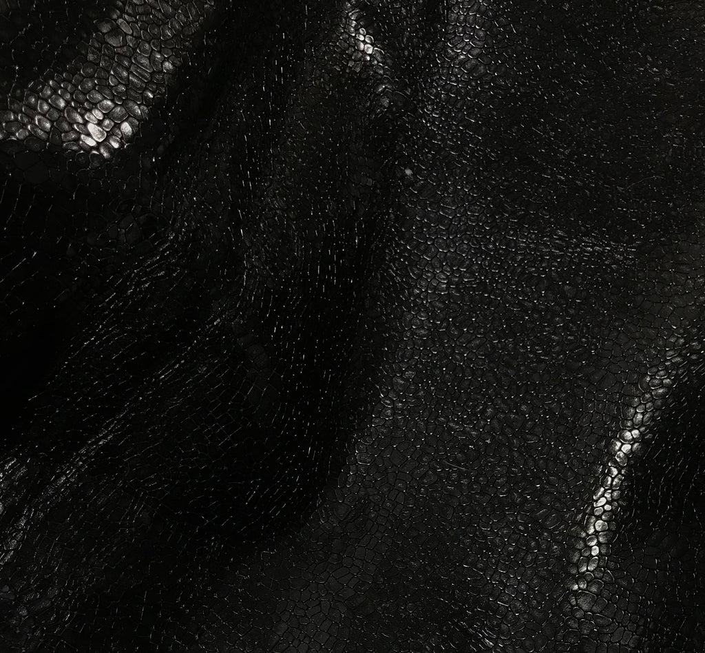 Black Gator - Cow Hide Leather
