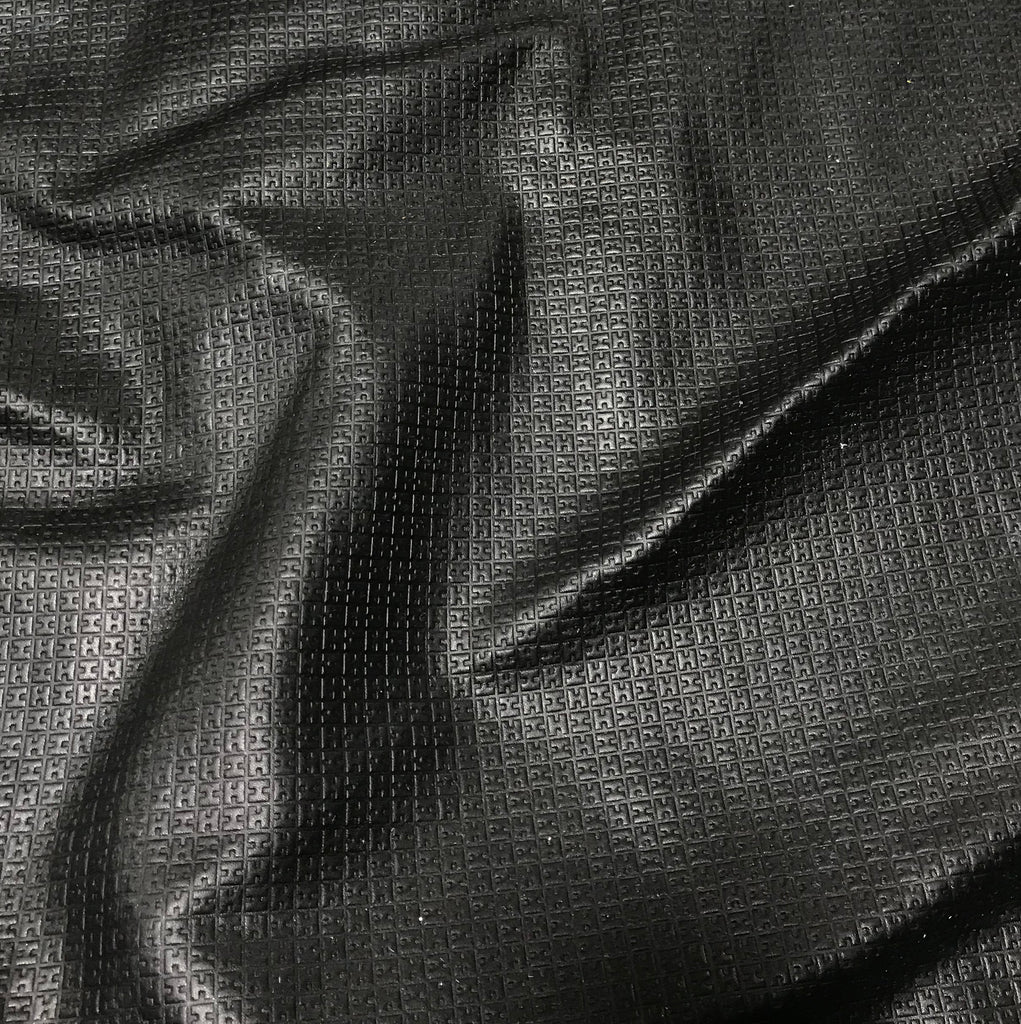 Black Geometric - Cow Hide Leather