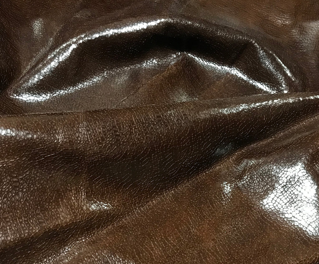 Brown Snakeskin - Cow Hide Leather