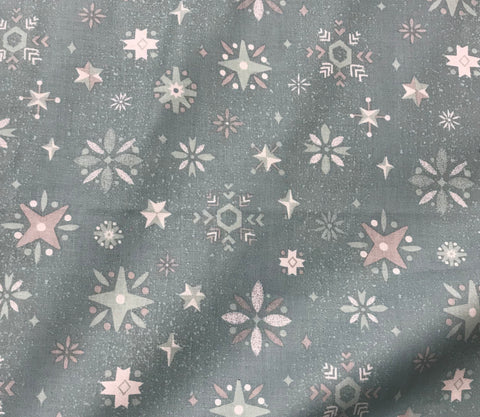 Way Up North Snowflake Blue - Riley Blake Cotton Fabric