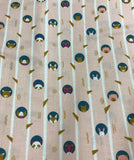 Woodland Animals in Trees Salmon - Treehouse - Figo Cotton Fabrics