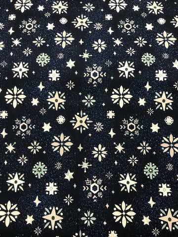 Way Up North Navy Blue Snowflakes - Riley Blake Cotton Fabric