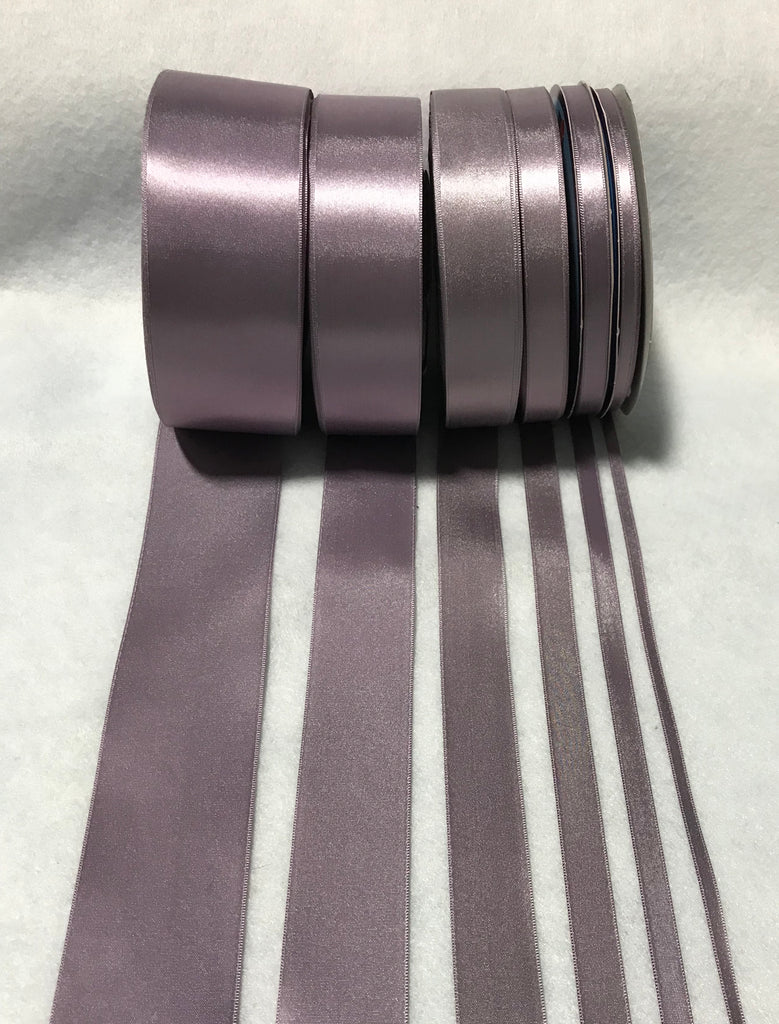 Dusty Lavender Double Sided Satin Ribbon - Made in France (7 Widths to choose from)