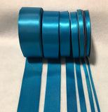 Turquoise Double Sided Satin Ribbon - Made in France (7 Widths to choose from)