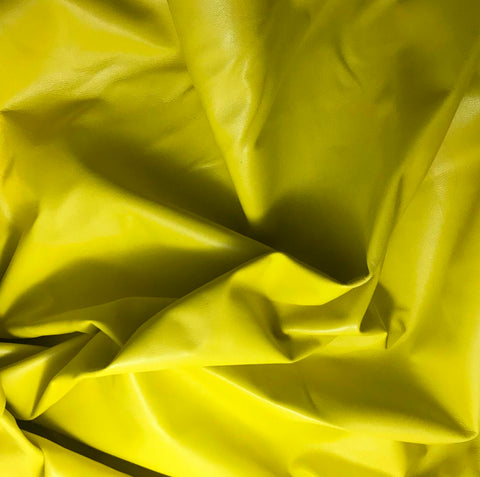 Neon Yellow - Lambskin Leather