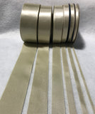 Taupe Double Sided Satin Ribbon - Made in France (7 Widths to choose from)