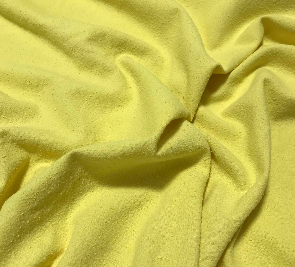 Sunshine Yellow - Hand Dyed Silk Noil