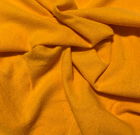Sunshine Orange - Hand Dyed Silk Noil