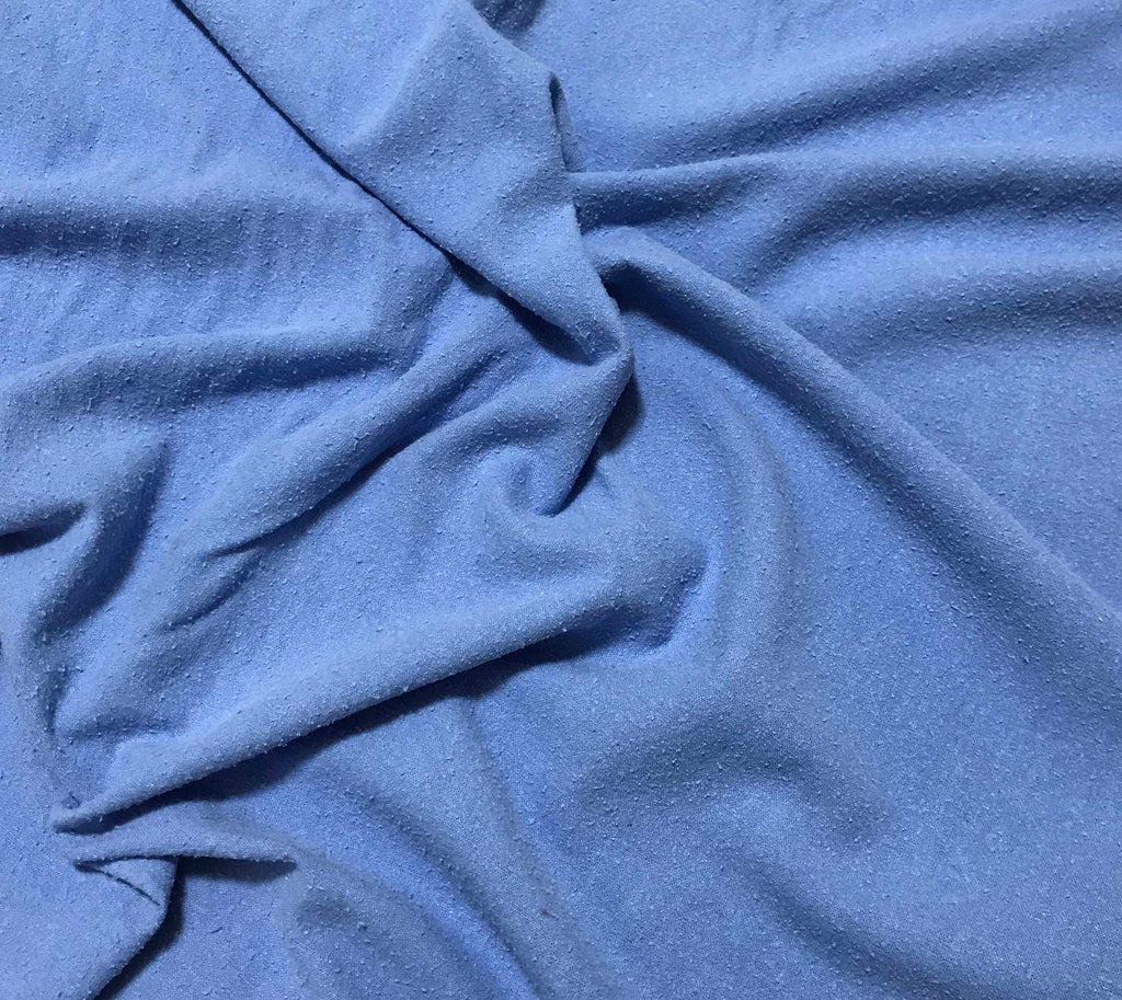 Cornflower Blue - Hand Dyed Silk Noil