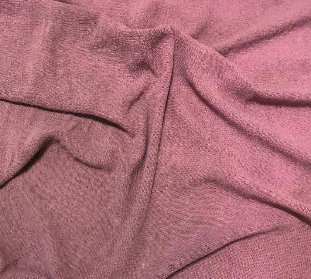 Antique Mauve - Hand Dyed Poplin Gauze Silk Noil