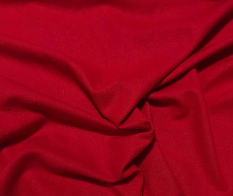 Scarlet Red - Silk Noil