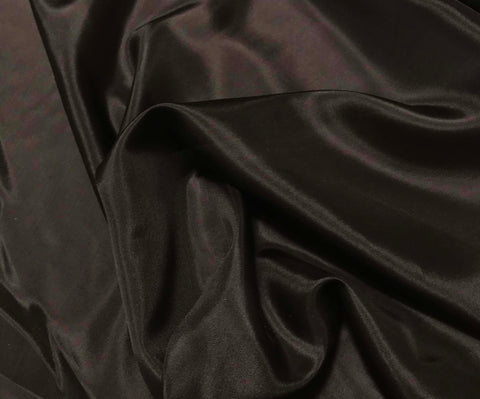 Chocolate Brown - 8mm Silk Habotai