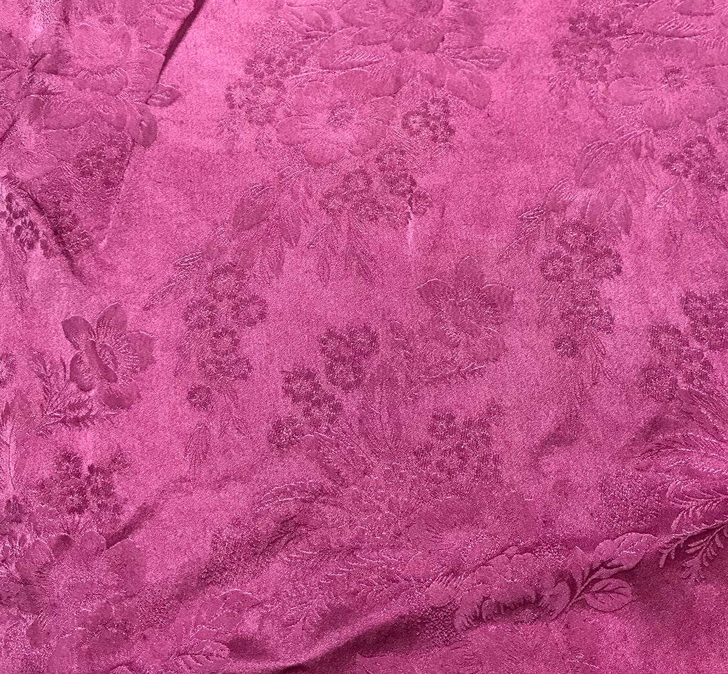 Lilac Floral - Hand Dyed Silk Jacquard