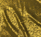 Gold Baroque Scroll - Silk Jacquard