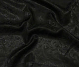 Black Scroll - Silk Jacquard