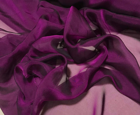 Boysenberry - Iridescent Silk Chiffon