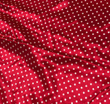 Red and White Polka Dots - Silk Charmeuse