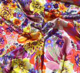 Summer Floral Bouquet - Silk Charmeuse