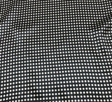 Black and White Small Polka Dots - Silk Charmeuse