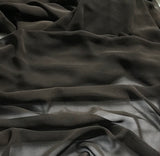 Chocolate Brown - Polyester Chiffon Fabric