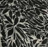 Black & White Floral - Polyester Chiffon Fabric