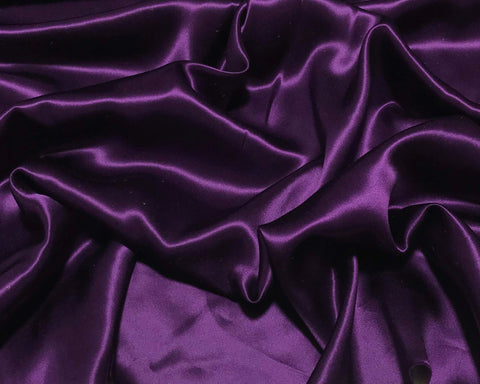 Eggplant Purple - 19mm Silk Charmeuse