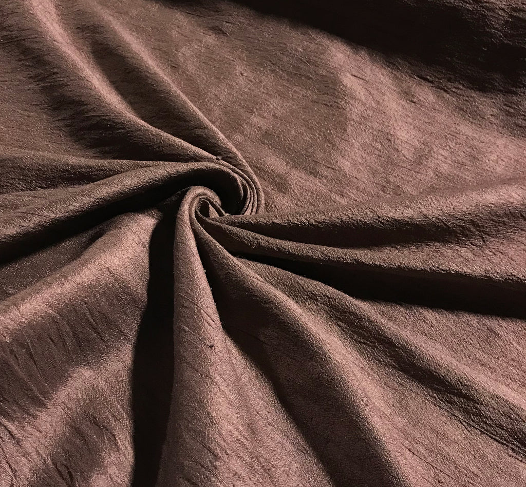 Mahogany Brown - Hand Dyed Silk Dupioni