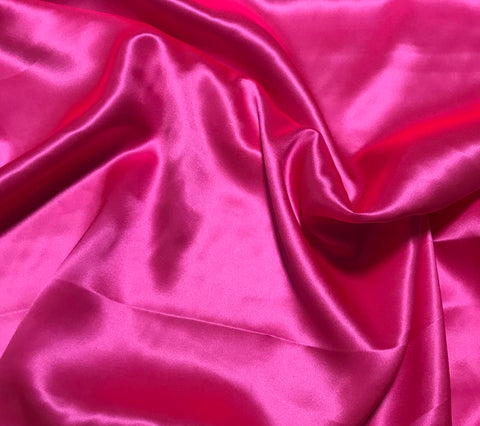 Neon Pink - 19mm Silk Charmeuse