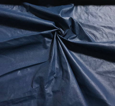 Steel Blue - Faux Leather Fabric