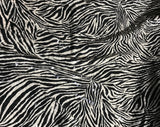 Zebra Stripes Sequin - Stretch Jersey Knit Fabric