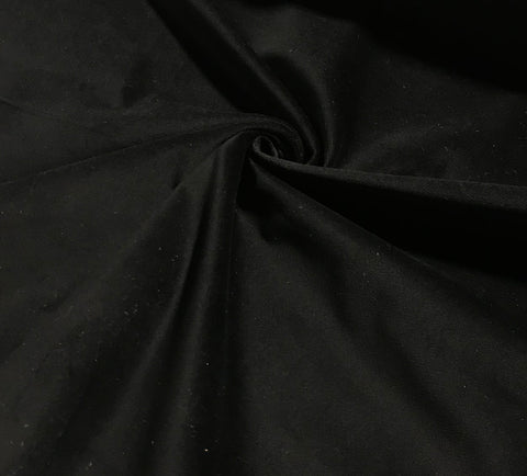 Black Stretch Cotton Velveteen Fabric