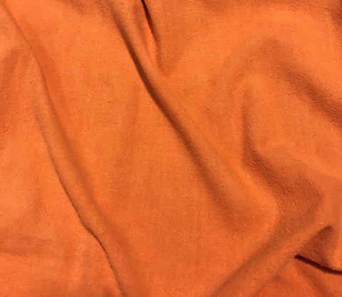 Persimmon Orange - Hand Dyed Silk Noil