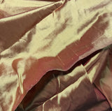 Iridescent Dark Golden Red - Silk Dupioni Fabric