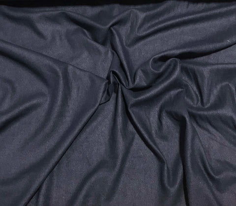 Navy Blue - Silk Noil