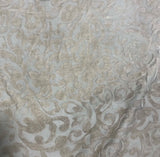 Taupe Gray Scroll - Hand Dyed Burnout Silk Velvet