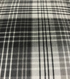 Gray Plaid - Silk Dupioni Fabric