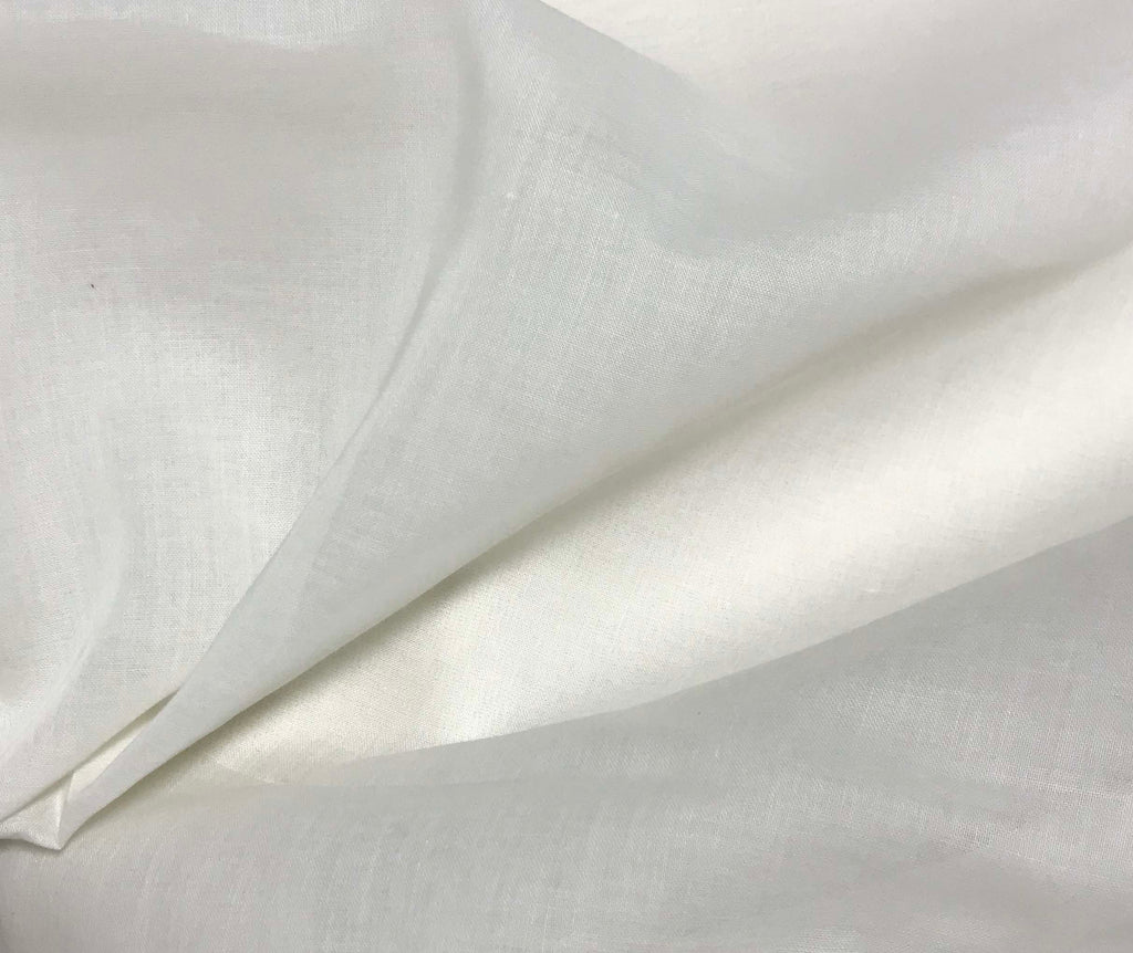 Spechler-Vogel Fabric - White Imperial Voile Poly/Cotton
