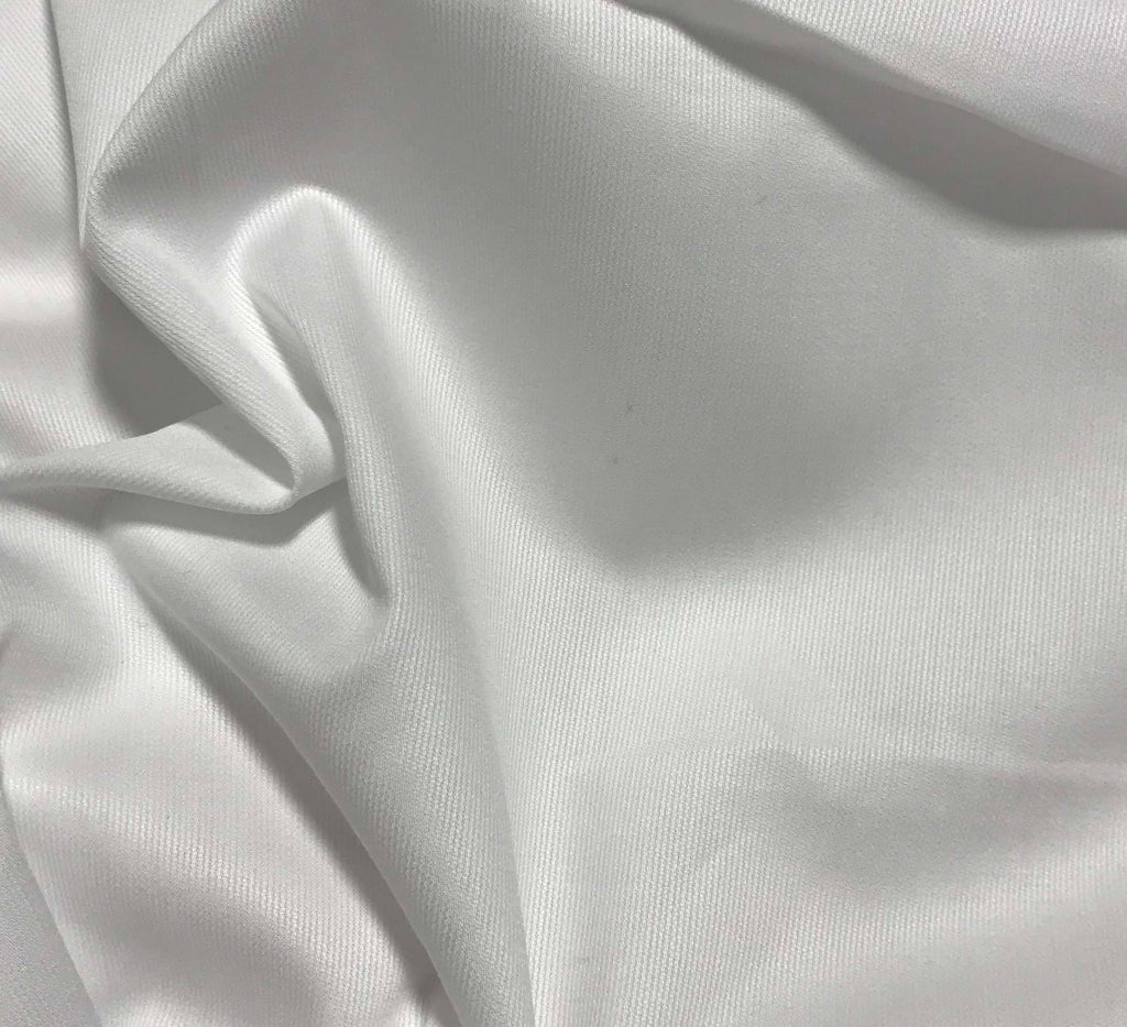 Spechler-Vogel Fabric - White Pima Teeny Tiny Satin Stripe Pique Swiss Cotton