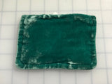 Teal Blue Hand Dyed Silk Velvet Zipper Pouch