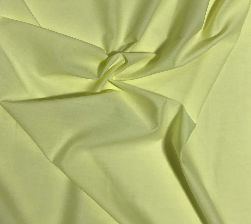Spechler-Vogel Fabric - Lemon Yellow Imperial Batiste Poly/Cotton