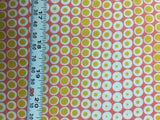 Golden Yellow Chevron Dots - Rayon Challis Fabric