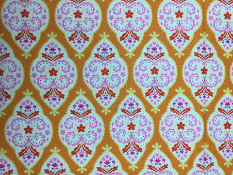 Bubblegum/Lime/Orange - Floral Sunshine - Dena-  Cotton Linen Fabric