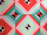 Sky Pyramid - Red/Emerald by Amy Butler - Cotton Linen Fabric