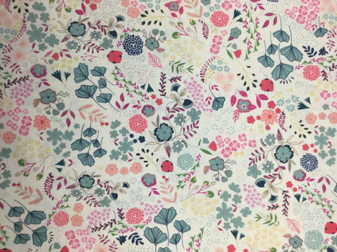 Blooming Ground - Lustrous - Flower Child by Maureen Cracknell for Art Gallery Fabrics - Premium Cotton